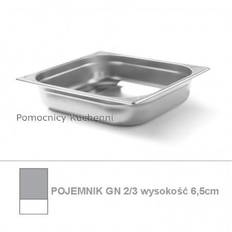 Pojemnik GN 2/3 poj. 5l - 35,4x32,5cm wys. 6,5cm, wzmocniony KITCHEN LINE HENDI 806227