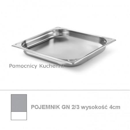 Pojemnik GN 2/3 poj. 3l - 35,4x32,5cm wys. 4cm, wzmocniony KITCHEN LINE HENDI 806210