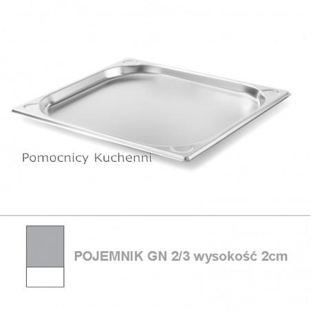 Pojemnik GN 2/3 poj. 1,5l - 35,4x32,5cm wys. 2cm, wzmocniony KITCHEN LINE HENDI 806203