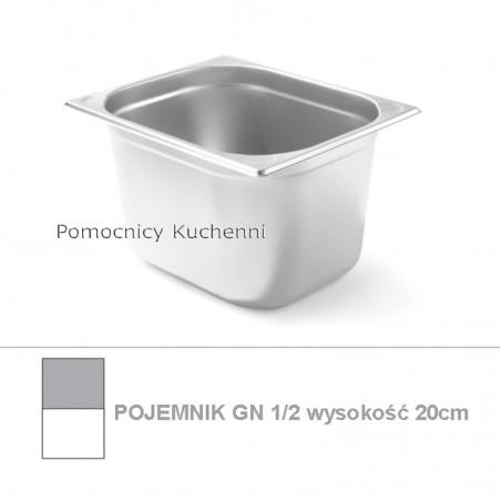 Pojemnik GN 1/2 poj.11l - 32,5x26,5cm wys. 20cm, wzmocniony KITCHEN LINE HENDI 806357