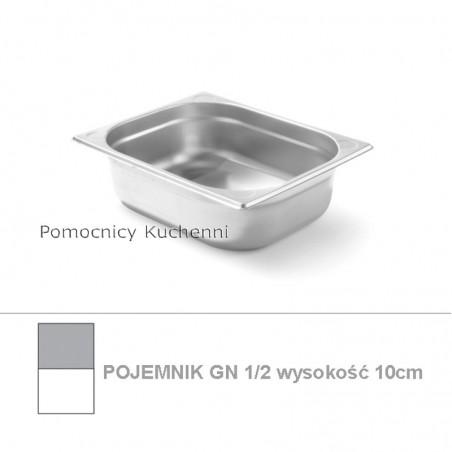 Pojemnik GN 1/2 poj. 5,6l - 32,5x26,5cm wys. 10cm, wzmocniony KITCHEN LINE HENDI 806333
