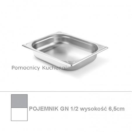 Pojemnik GN 1/2 poj. 3,6l - 32,5x26,5cm wys. 6,5cm, wzmocniony KITCHEN LINE HENDI 806326