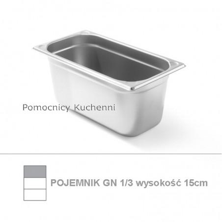 Pojemnik GN 1/3 poj. 5,1l - 32,5x17,6cm wys. 15cm, wzmocniony KITCHEN LINE HENDI 806449