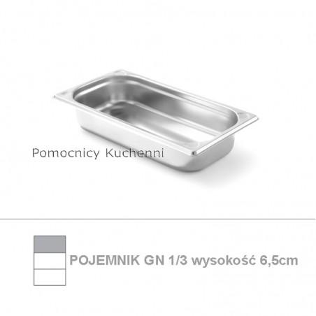 Pojemnik GN 1/3 poj. 2,2l - 32,5x17,6cm wys. 6,5cm, wzmocniony KITCHEN LINE HENDI 806425