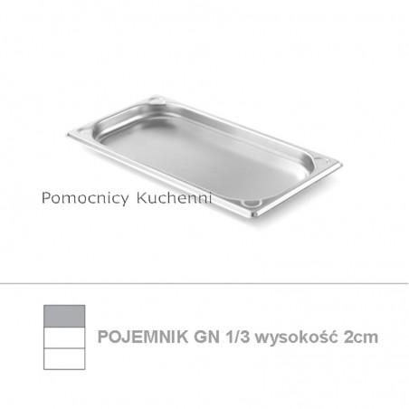 Pojemnik GN 1/3 poj. 0,6l - 32,5x17,6cm wys. 2cm, wzmocniony KITCHEN LINE HENDI 806401