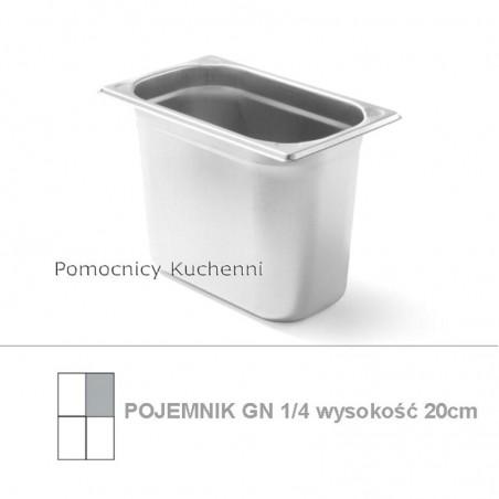 Pojemnik GN 1/4 poj. 5,5l - 26,5x16,2cm wys. 20cm, wzmocniony KITCHEN LINE HENDI 806555