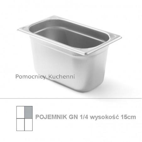 Pojemnik GN 1/4 poj. 4,1l - 26,5x16,2cm wys. 15cm, wzmocniony KITCHEN LINE HENDI 806548
