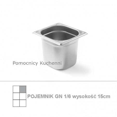 Pojemnik GN 1/6 poj. 2,4l - 17,6x16,2cm wys. 15cm , wzmocniony KITCHEN LINE HENDI 806647