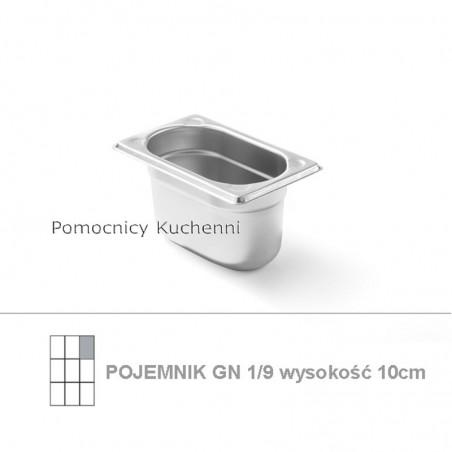 Pojemnik GN 1/9 poj.1l - 17,66x10,8cm wys. 10cm , wzmocniony KITCHEN LINE HENDI 806739