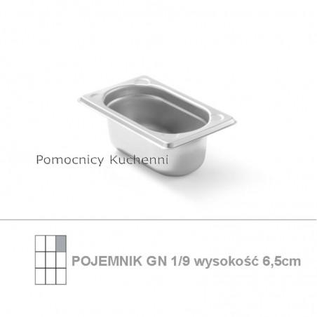 Pojemnik GN 1/9 poj.0,6l - 17,66x10,8cm wys. 6,5cm , wzmocniony KITCHEN LINE HENDI 806722