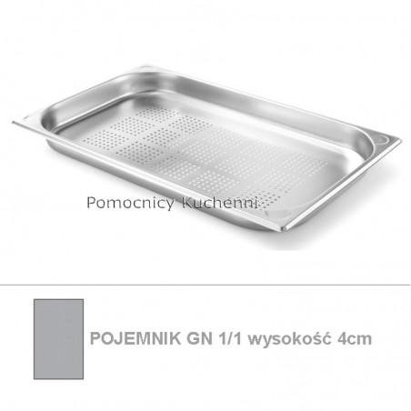 Pojemnik perforowany GN 1/1 poj. 5,3 l - 53x32,5cm wys. 4cm - wzmocniony KITCHEN LINE HENDI 807118
