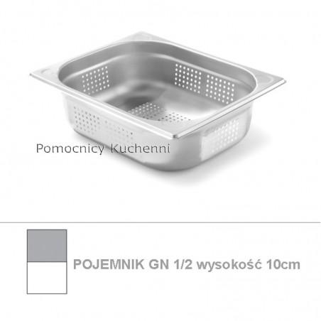 Pojemnik perforowany GN 1/2 poj.6,5 l - 32,5x26,5cm wys. 10cm - wzmocniony KITCHEN LINE HENDI 807330