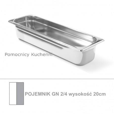 Pojemnik GN 2/4 poj. 8,6l - 53x16,2cm wys. 15cm, stal nierdzewna 18/10 PROFI LINE HENDI 801840