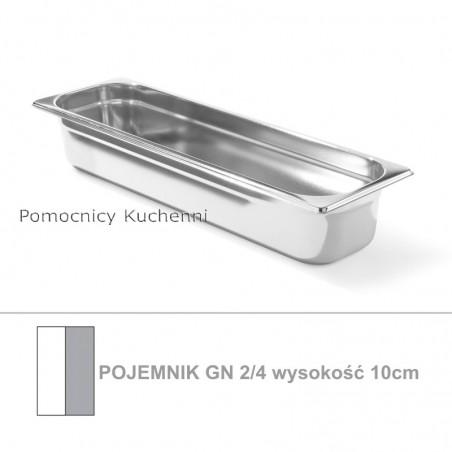 Pojemnik GN 2/4 poj. 5,8l - 53x16,2cm wys. 10cm, stal nierdzewna 18/10 PROFI LINE HENDI 801666