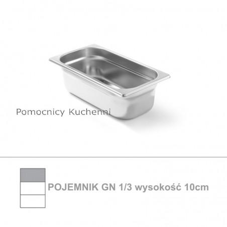 Pojemnik GN 1/3 poj. 4l - 32,5x17,6cm wys. 10cm, stal nierdzewna 18/10 PROFI LINE HENDI 801529