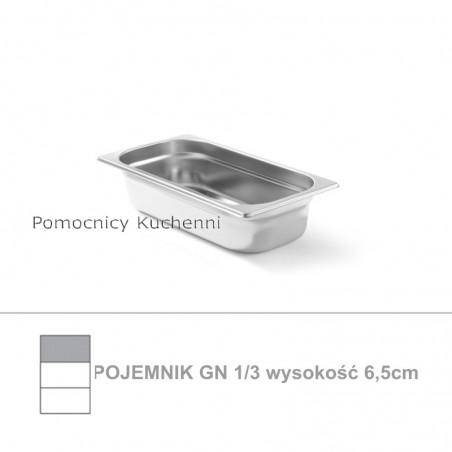 Pojemnik GN 1/3 poj. 2,5l - 32,5x17,6cm wys. 6,5cm, stal nierdzewna 18/10 PROFI LINE HENDI 801536