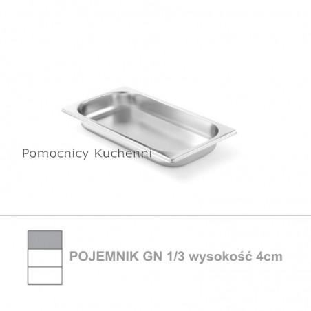 Pojemnik GN 1/3 poj. 1,5l - 32,5x17,6cm wys. 4cm, stal nierdzewna 18/10 PROFI LINE HENDI 801543