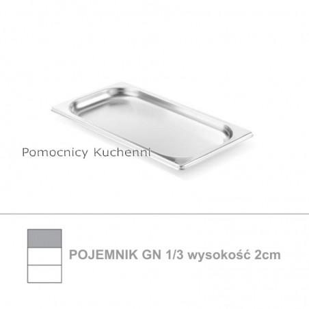 Pojemnik GN 1/3 poj. 0,8l - 32,5x17,6cm wys. 2cm, stal nierdzewna 18/10 PROFI LINE HENDI 801550