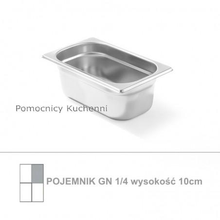 Pojemnik GN 1/4 poj. 2,8l - 26,5x16,2cm wys. 10cm, stal nierdzewna 18/10 PROFI LINE HENDI 801628