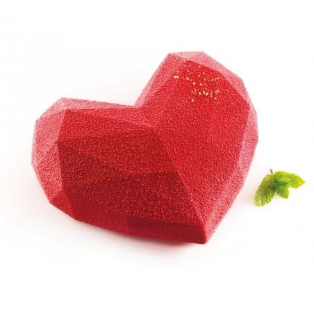 Forma silikonowa serce amore origami 15x13,5 cm poj 600ml wykrojnik Silikomart Professional