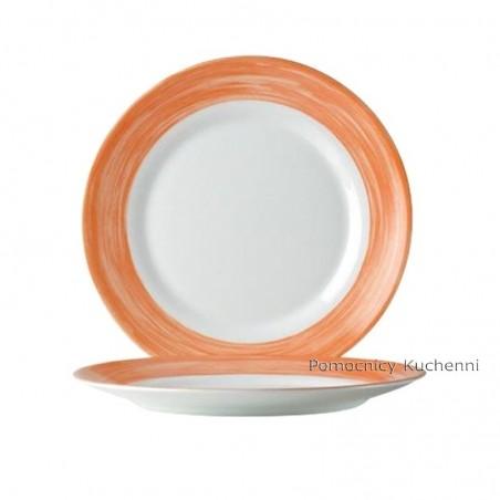 Talerz płytki obiadowy 23,5 cm pomarańczowy (komplet 6szt) linia BRUSH ARCOROC