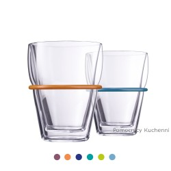 Zestaw szklanek z obręczami...