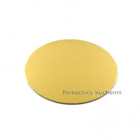 Podkład pod tort z tektury złoty śr. 20 cm / 1mm