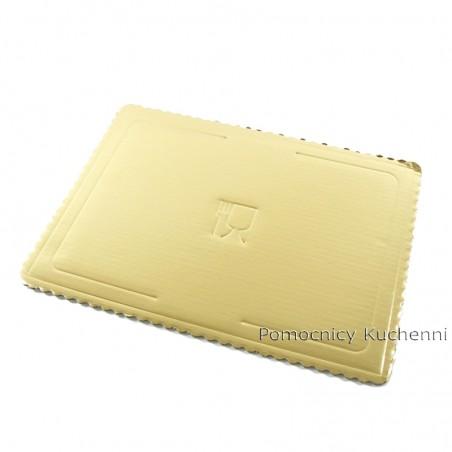 Podkład pod tort z grubej tektury złoty 40x30 cm/ 4mm