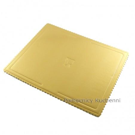 Podkład pod tort z grubej tektury złoty 40x60 cm / 4mm