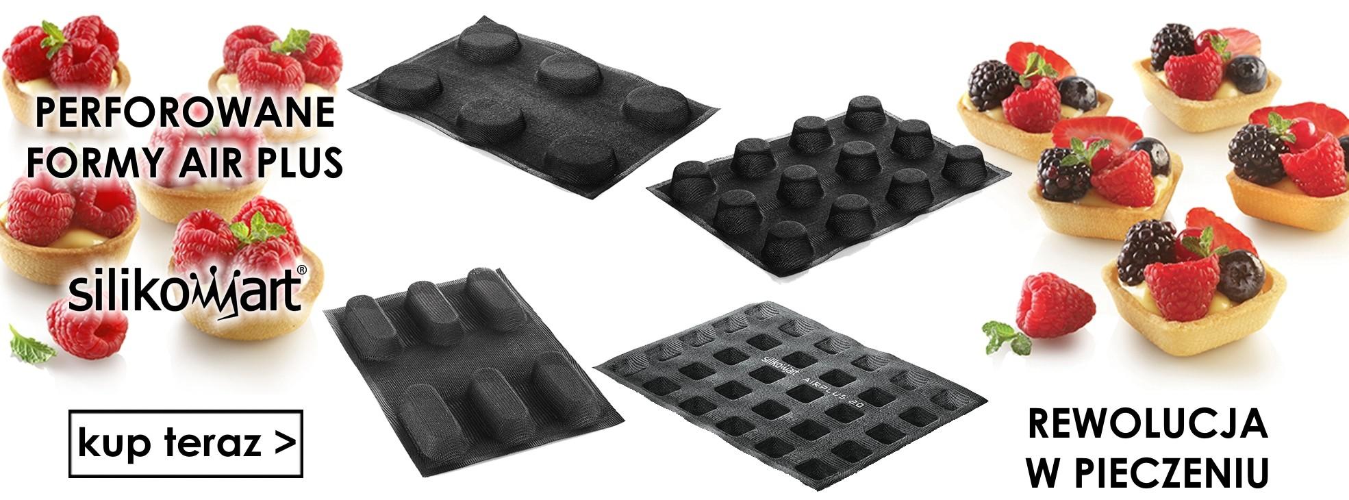 Nowe perforowane formy silikonowe AIR PLUS SILIKOMART