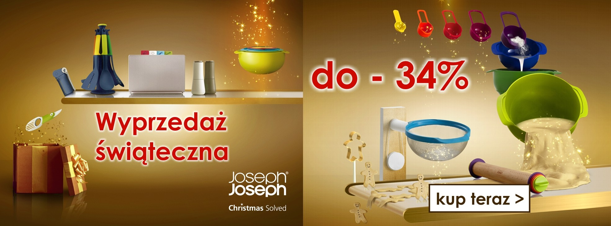 Świąteczna wyprzedaż produktów Joseph Joseph