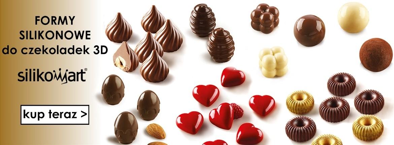 Nowe formy silikonowe do czekoladek 3D SILIKOMART